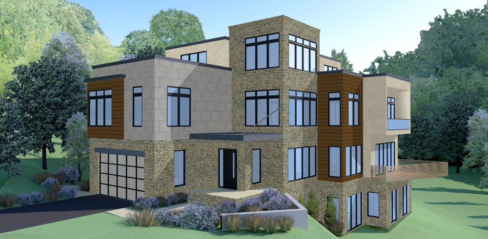 2905 University Terrace Exterior Rendering